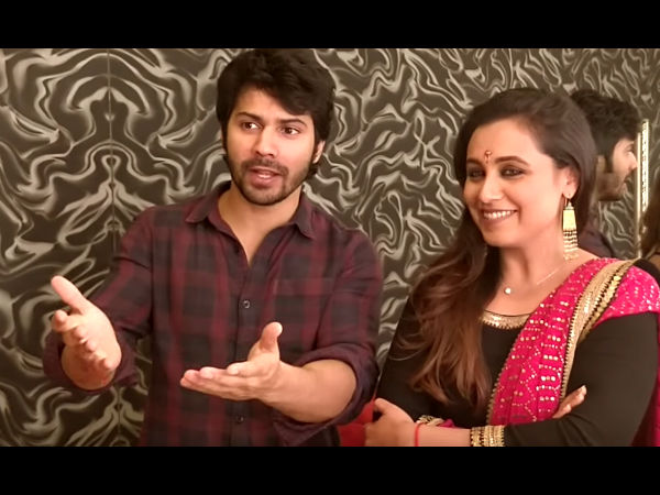 Varun Dhawan Shares His 'Hichki' Moment With Rani Mukerji & It Involves Sridevi & Madhuri Dixit