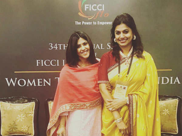 Ekta Kapoor Honoured With FLO Icon Award At FICCI
