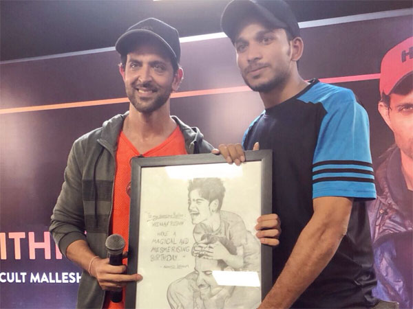 Hrithik Roshan Fan Gifts Sketch Hrehaan Birthday