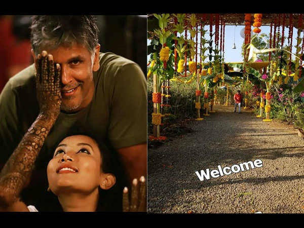 First Pictures! Milind Soman- Ankita Konwar's Wedding Preparations Going In Full Swing In Alibaug