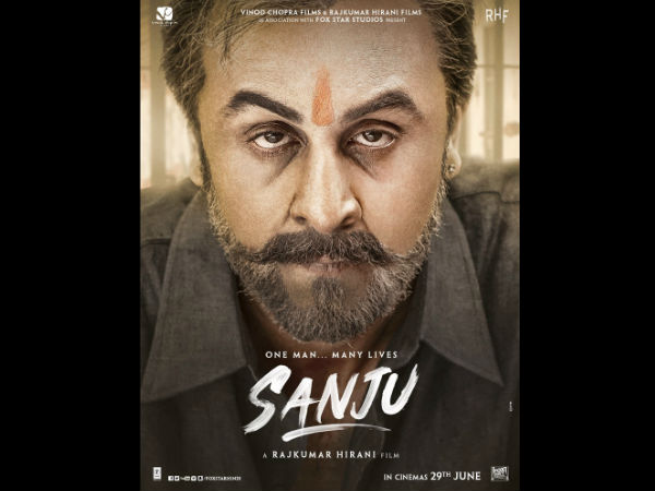 Ranbir Kapoor as 'Sanju' post his jail time in new poster