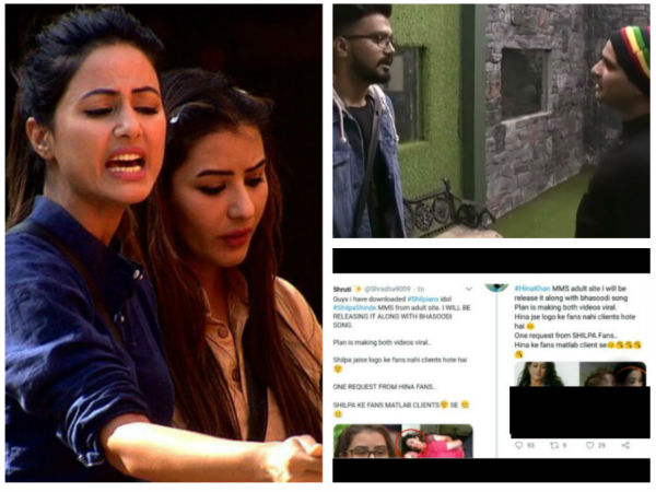 Shilpa-Hina Twitter War Over Adult Clip Row: A Fan Threatens To Leak Hina's MMS, Rocky Slams The Fan