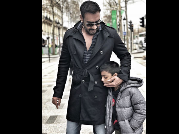 Ajay Is Seen Smoking Next To Yug