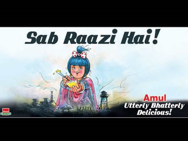 Meanwhile, Amul Plays A Cool Tribute To Raazi