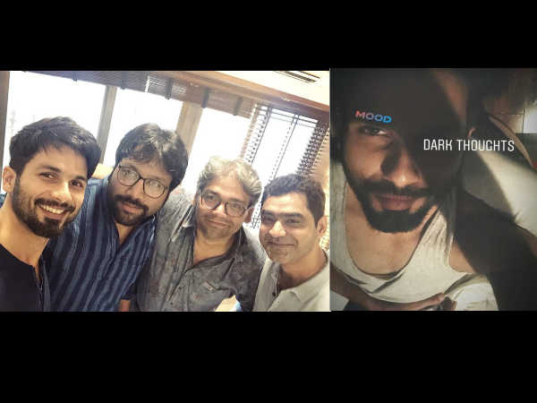 <strong>Arjun Reddy Hindi Remake: Shahid Kapoor Is Having 'Dark Thoughts' & This Picture Is A Proof!</strong>