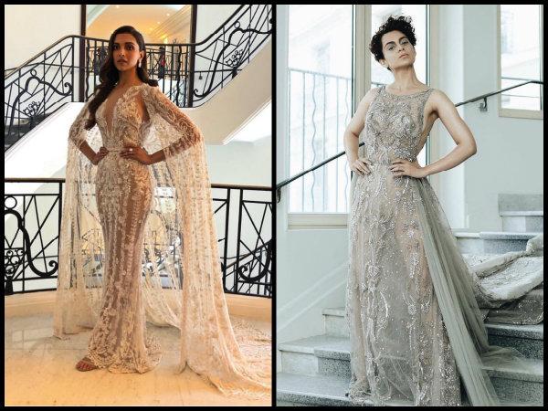 CANNES 2018: Deepika Padukone & Kangana Ranaut LOCK HORNS At The Red Carpet Looking All FIERY [PICS]