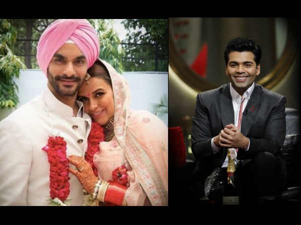 You Won't Believe How Karan Johar REACTED When Neha Dhupia Told Him She's Getting Married!