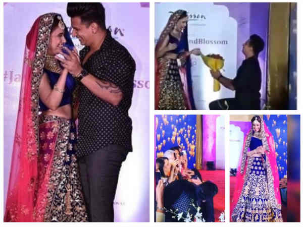 Prince Narula Can't Take His Eyes Off Yuvika Choudhary As She Walks The Ramp, Proposes Her!