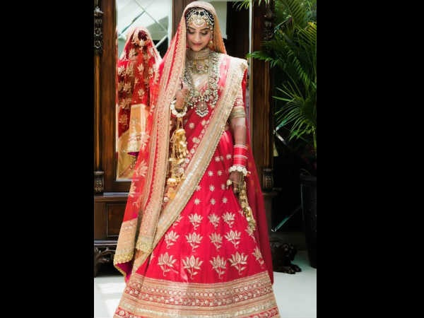 Sonam Is A Quintessential Bride In Red