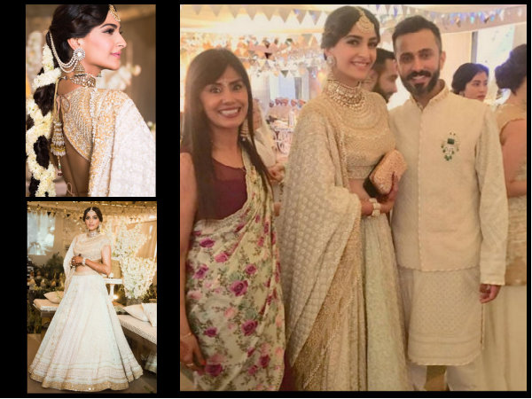 Mehendi Ceremony Look : Sonam kapoor looks like princess in white for her mehendi