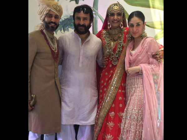 Bebo & Saif With The Happy Couple