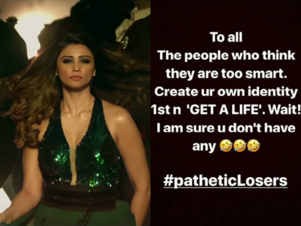 Daisy Shah Called Trolls Pathetic Losers Previously
