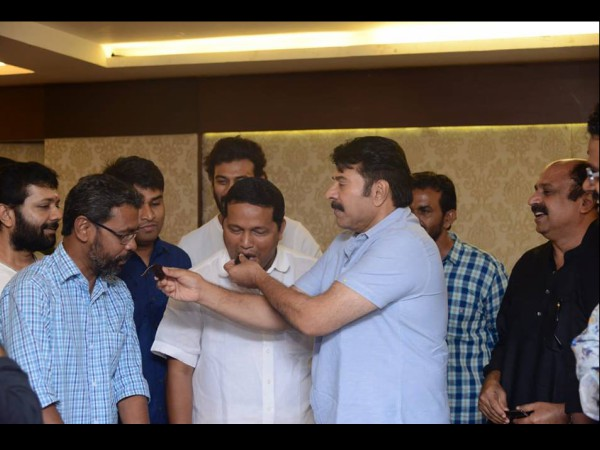 Mammootty Sharing The Sweet...