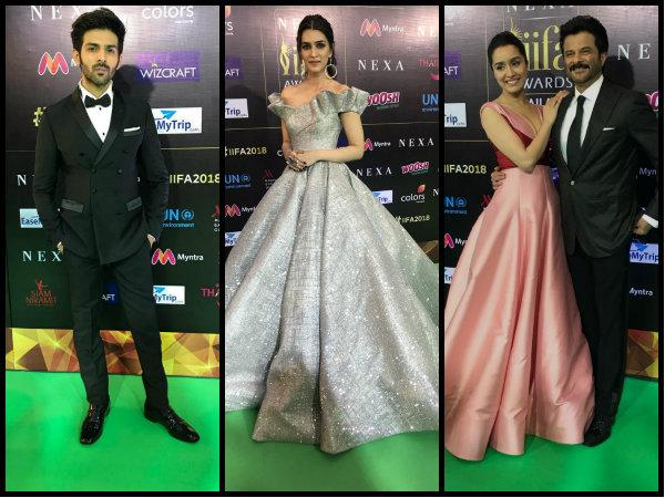B-town Celebs Walk The IIFA 2018 Green Carpet: Kriti Sanon Pulls Off Aishwarya Rai's Cannes Look