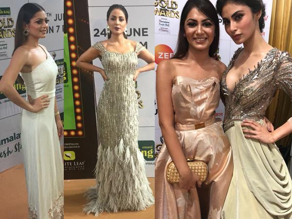 Gold Awards 2018: Drashti Dhami, Mouni-Sriti, Hina Khan, Vivian & Others Set Red Carpet On Fire!