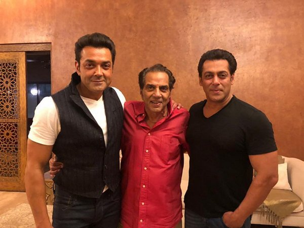 Salman On Dharmendra