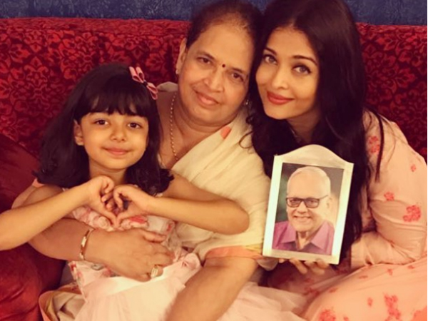 Aishwarya Rai Shares An Adorable Picture On Father's Day Along With Her Mother & Daughter Aaradhya