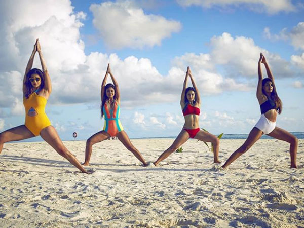 When They Did Yoga On The Beach