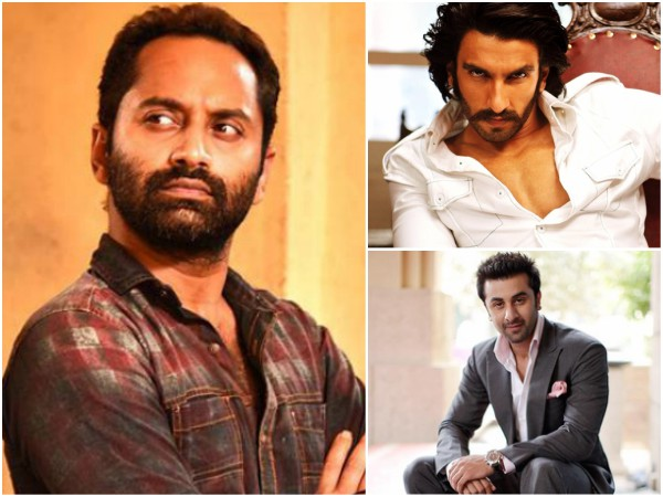Fahadh Faasil To Compete With Ranbir Kapoor, Ranveer Singh & Other Bollywood Stars!