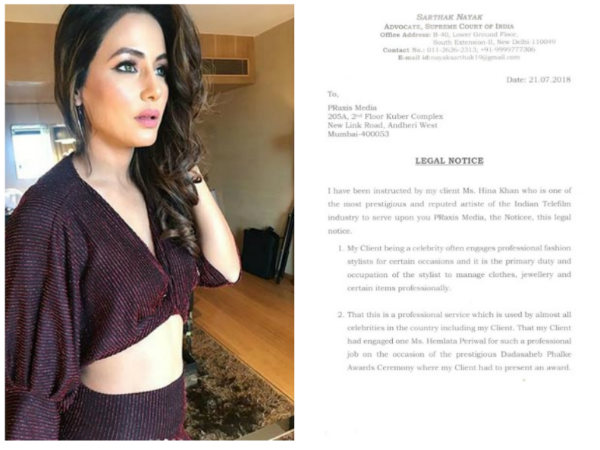 Hina Khan Jewellery Fraud Controversy: The Actress Sends Legal Notice To The Brand; Demands Apology!