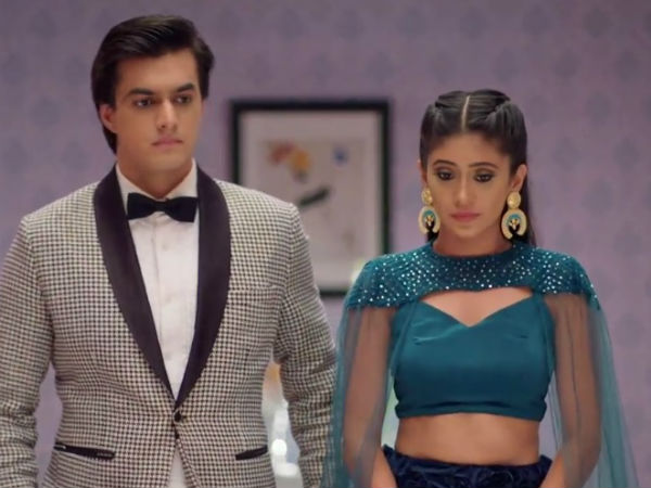 Kartik & Naira In Temple