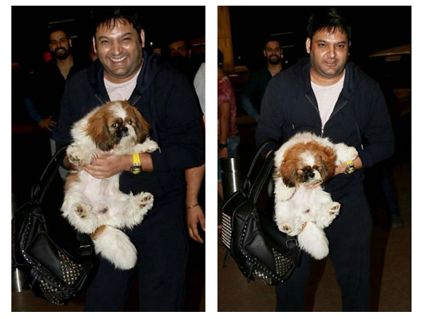 Kapil Spotted At The Airport