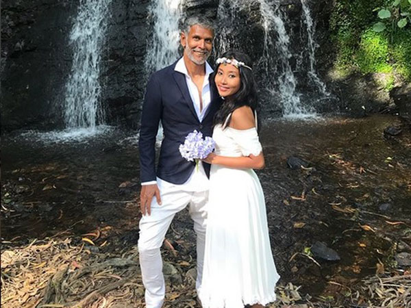 Milind Soman & Ankita Konwar Exchange Wedding Vows Again, But This Time They Are Barefoot In Spain!