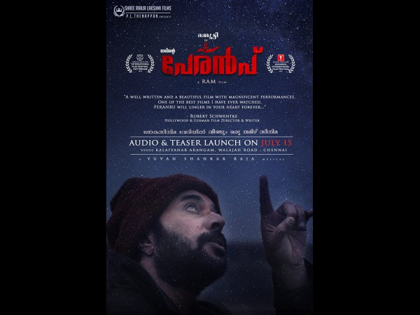 Mammoottys Peranbu Fetches The Praises Of An Internationally Acclaimed Film-maker