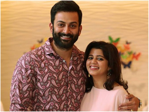 Prithviraj Sends Out Lovely Birthday Wishes For His Wife Supriya!