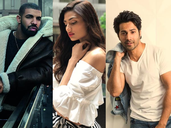 Varun Dhawan Pulls Athiya Shetty S Leg After Kiki Singer Drake Posts A Sweet Comment On Her Pic