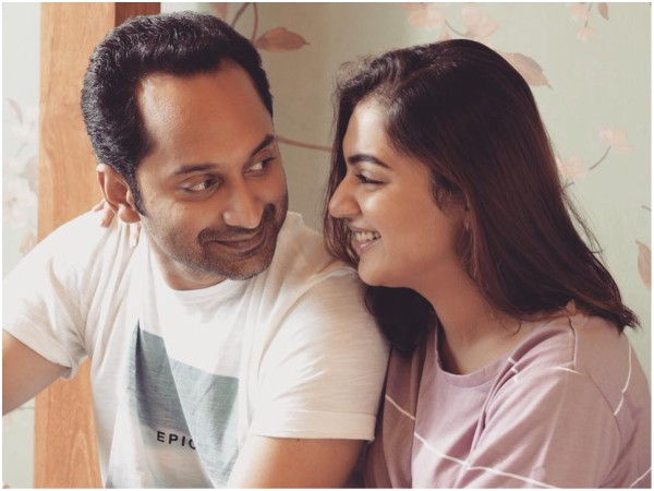Nazriya Nazim Sends A Cute Little Birthday Wish Hubby Fahadh Faasil