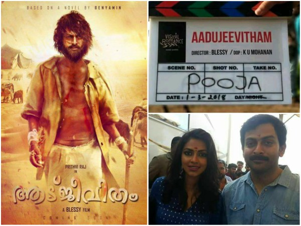 Prithviraj Starrer Aadujeevitham Will Hit The Theatres Only In 2020!