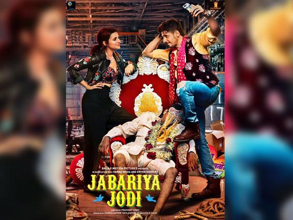 Jabariya Jodi Poster: Sidharth Malhotra & Parineeti Chopra Can't Stop Gazing Into Each Other's Eyes!