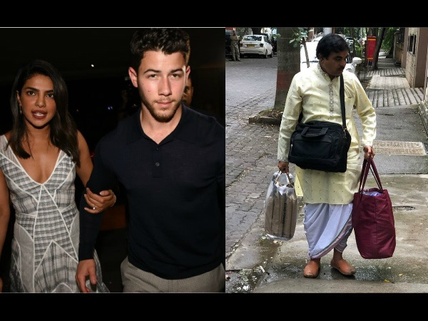 Priyanka Chopra-Nick Jonas' Roka Ceremony: Panditji Arrives At Priyanka's House!