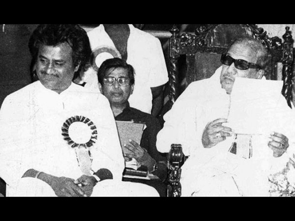 Karunanidhi With Rajinikanth