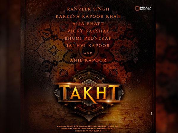 Karan Johar Announces Takht With Ranveer Singh Alia Bhatt Kareena Kapoor Khan Janhvi