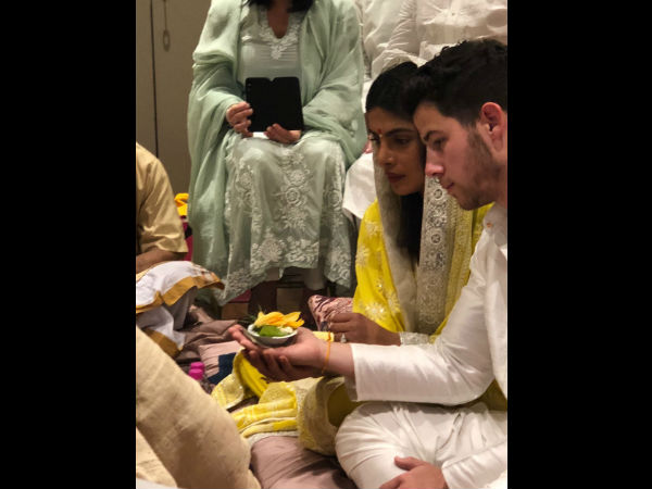 First Inside Pic From Roka Ceremony! Priyanka Chopra & Nick Jonas Perform Puja Looking All Beautiful