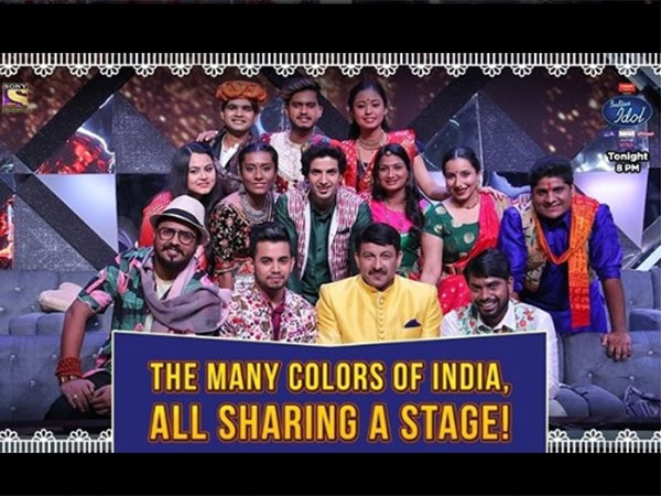 In Pic: Manoj Tiwari With Indian Idol 10 Contestants