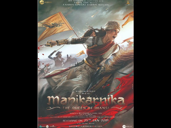 Manikarnika First Poster: Kangana Ranaut's Fierce Look As Rani Laxmi Bai Will Leave You Stunned!