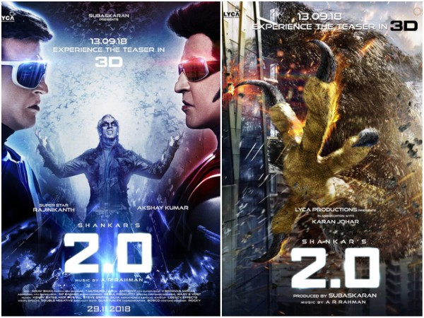 2.0s New Posters Speak Volumes About The Visual Extravaganza In The Offing!