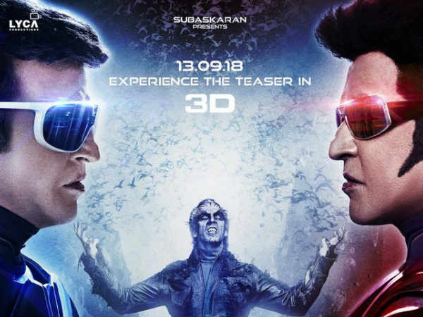 2.0 Teaser Smashes Records All Over; The Audience Cant Wait For The Trailer & Movie Release