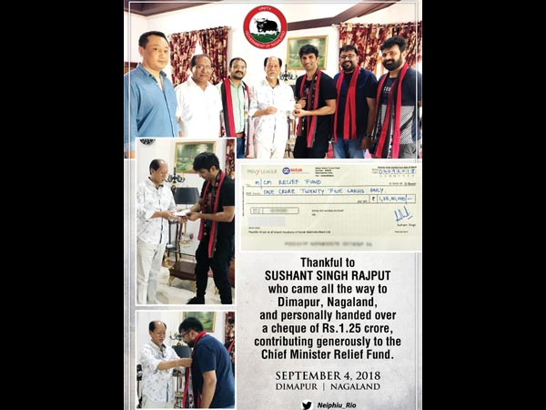 Sushant Singh Rajput Thanked The Chief Minister Of Nagaland In Return