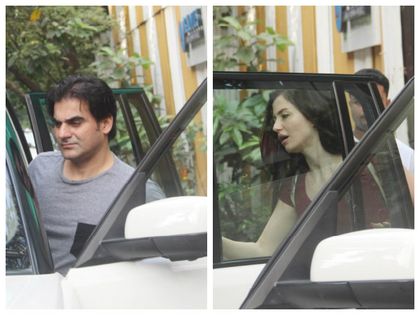 Arbaaz Khan & His Alleged Girlfriend Giorgia Andriani Enjoy A Lunch Date In Bandra!