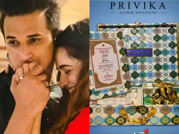 Prince Narula-Yuvika Chaudhary Wedding Card REVEALED! This Is How Prince's Mother Proposed To Yuvika