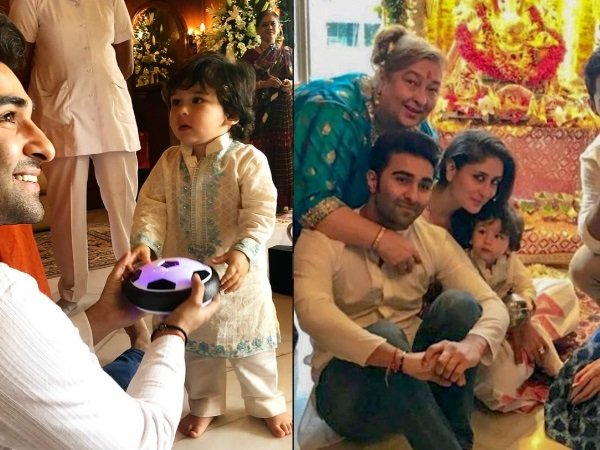 Taimur Ali Khan Steals The Show At Uncle Aadar Jain's Ganpati Celebrations; His Pics Are Super Cute!