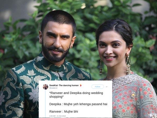Deepika Padukone & Ranveer Singh's Wedding Announcement Becomes A Meme! View Tweets
