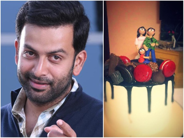 Prithviraj's Birthday Cake From His Wife Supriya Is Fabulous; The Cake Topper Has An Anecdote!
