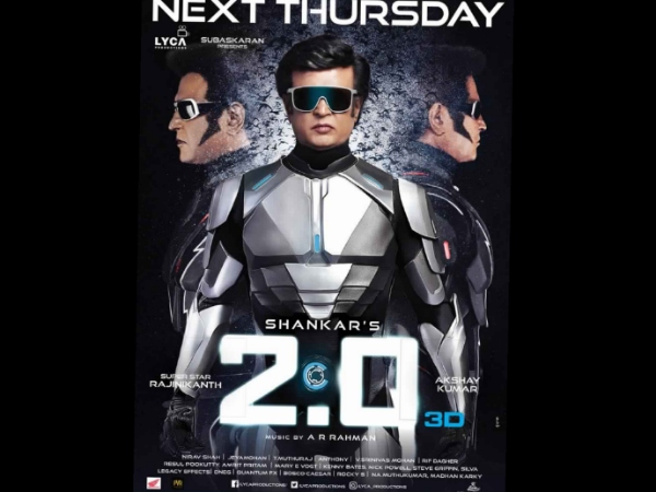 2.0 New Poster: The Wait For Rajinikanth-Akshay Kumar's Film Just Got Harder