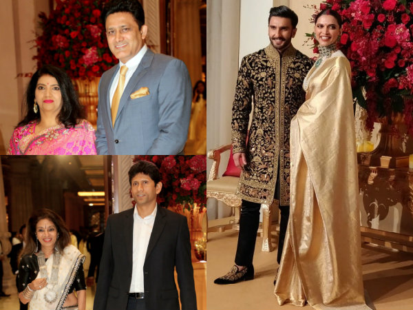 Deepika & Ranveer Wedding Reception: Anil Kumble, Venkatesh Prasad & PV Sindhu Arrive At The Venue