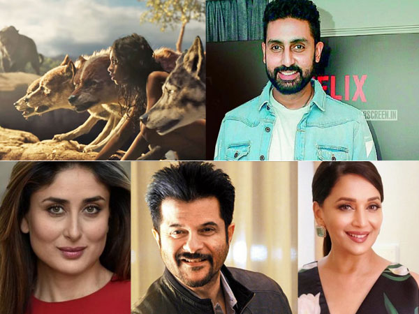 Abhishek, Kareena & More Roped In For Netflix's Mowgli; Madhuri Dixit Is Excited To Voice Nisha!